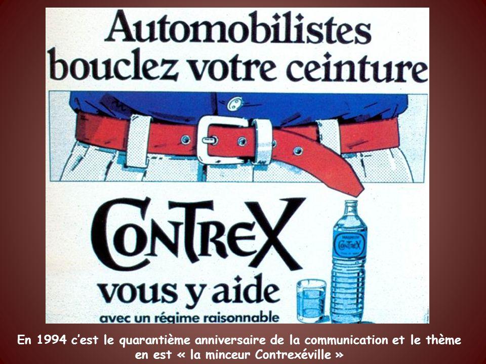En 1994 c'est le quarantième anniversaire de la communication et le thème en est « la minceur Contrexéville »