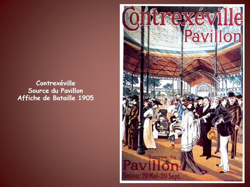 Contrexéville Source du Pavillon Affiche de Bataille 1905
