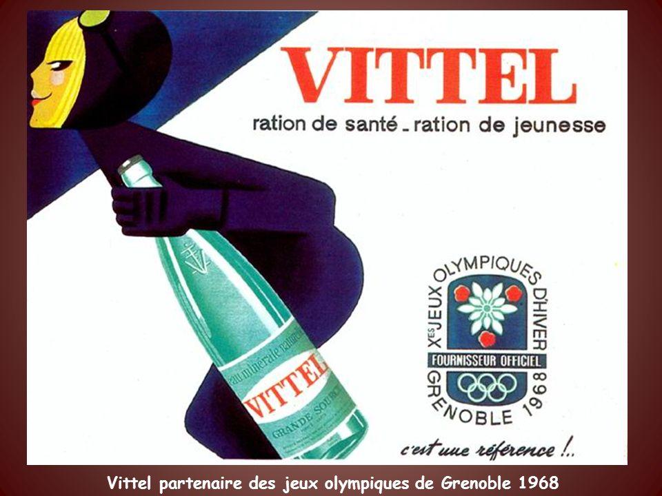 Vittel partenaire des jeux olympiques de Grenoble 1968