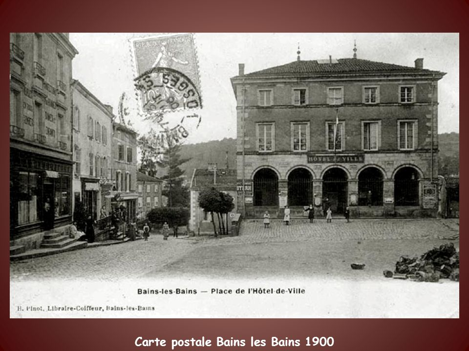 Carte postale Bains les Bains 1900