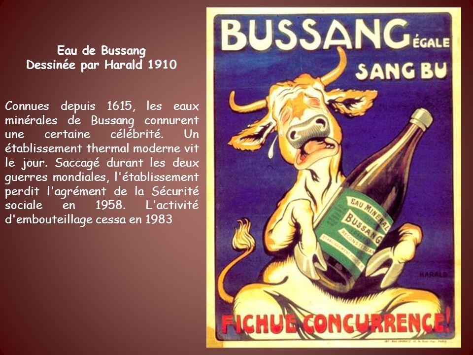 Eau de Bussang Dessinée par Harald 1910.