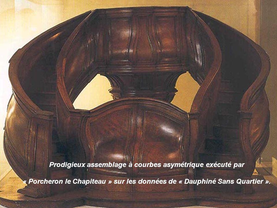 Prodigieux assemblage à courbes asymétrique exécuté par « Porcheron le Chapiteau » sur les données de « Dauphiné Sans Quartier ».