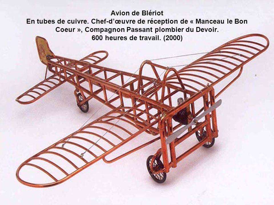 Avion de Blériot En tubes de cuivre