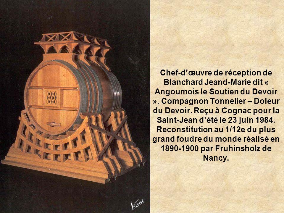 Chef-d'œuvre de réception de Blanchard Jeand-Marie dit « Angoumois le Soutien du Devoir ».