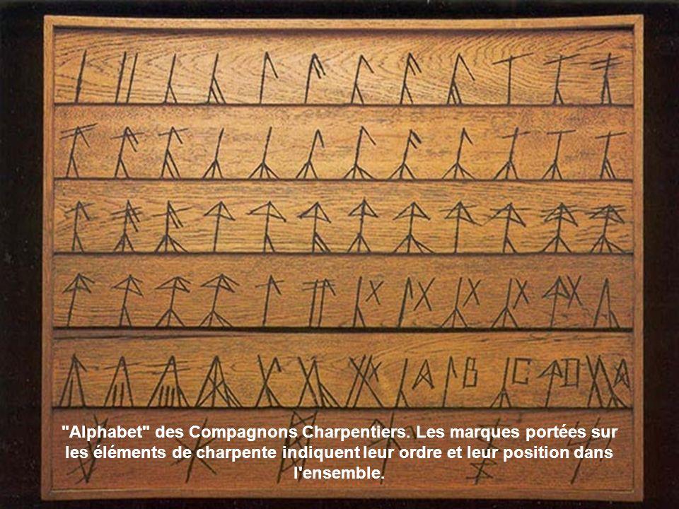 Alphabet des Compagnons Charpentiers