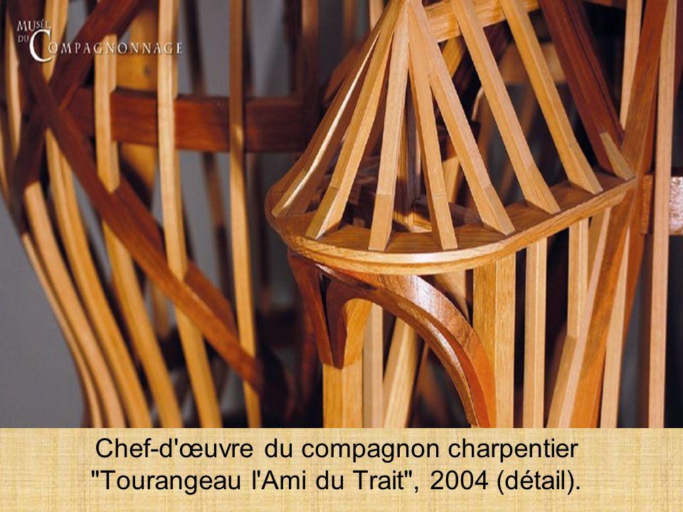 Chef-d œuvre du compagnon charpentier Tourangeau l Ami du Trait , 2004 (détail).