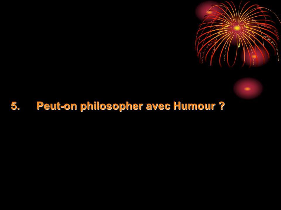 Peut-on philosopher avec Humour