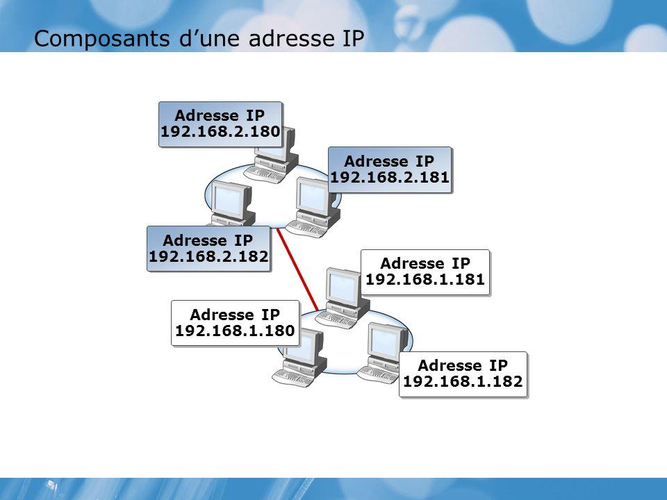 Composants d'une adresse IP