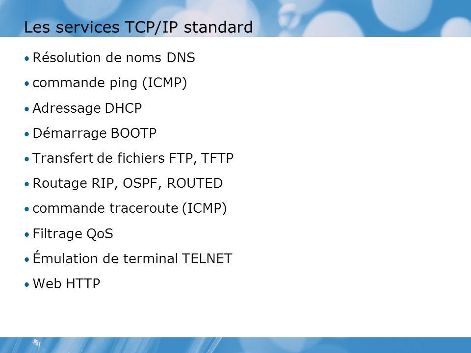 Les services TCP/IP standard