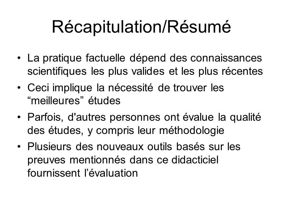 Récapitulation/Résumé