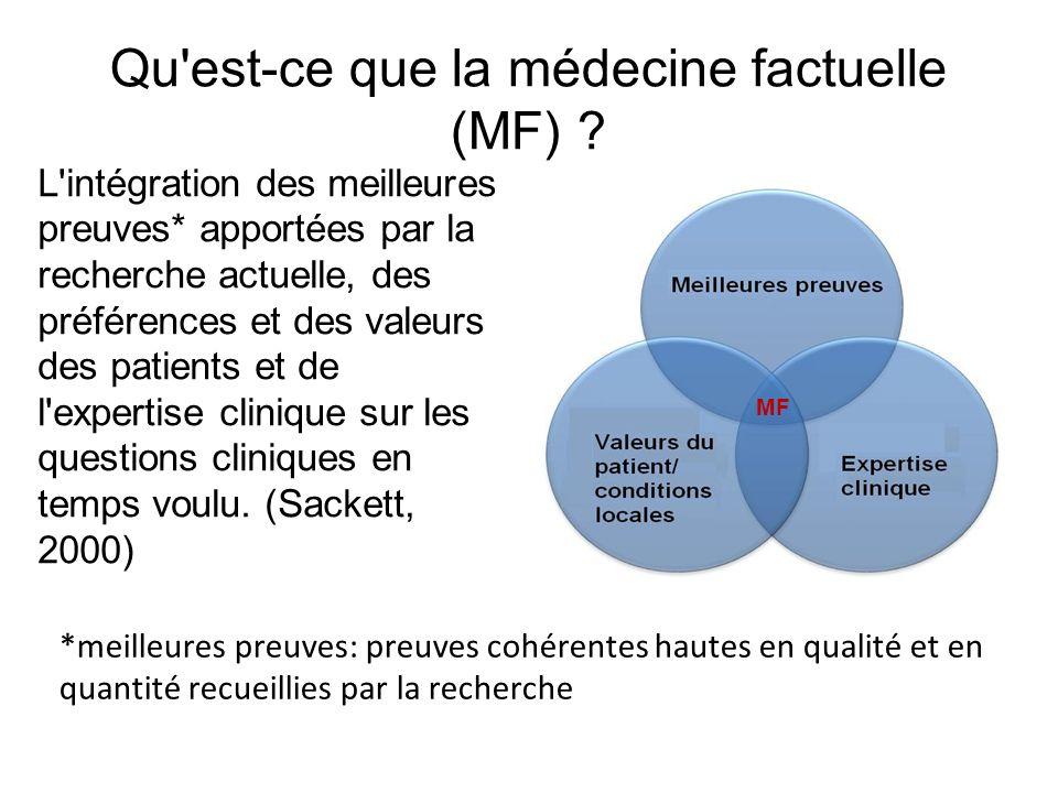 Qu est-ce que la médecine factuelle (MF)