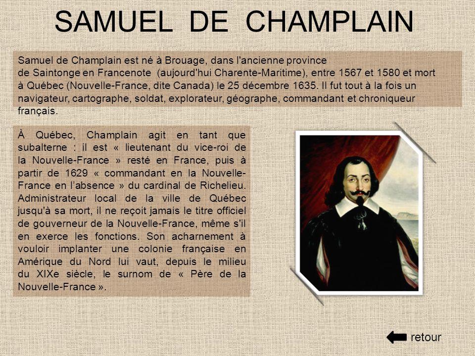 SAMUEL DE CHAMPLAIN retour