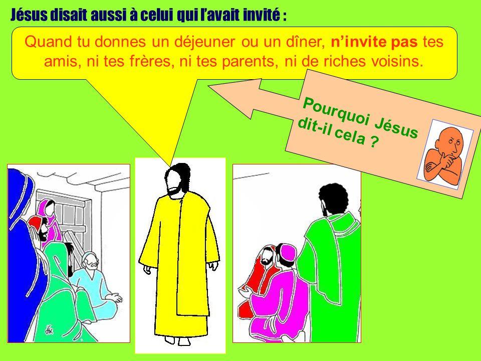 Jésus disait aussi à celui qui l'avait invité :