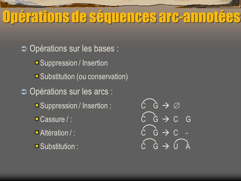 Opérations de séquences arc-annotées