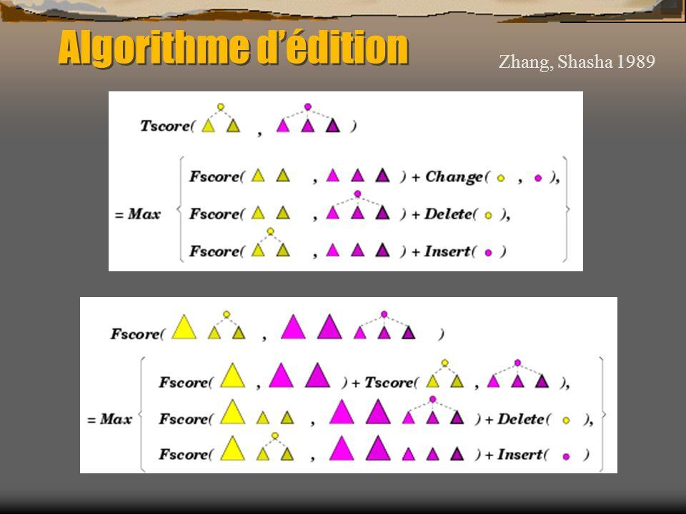 Algorithme d'édition Zhang, Shasha 1989