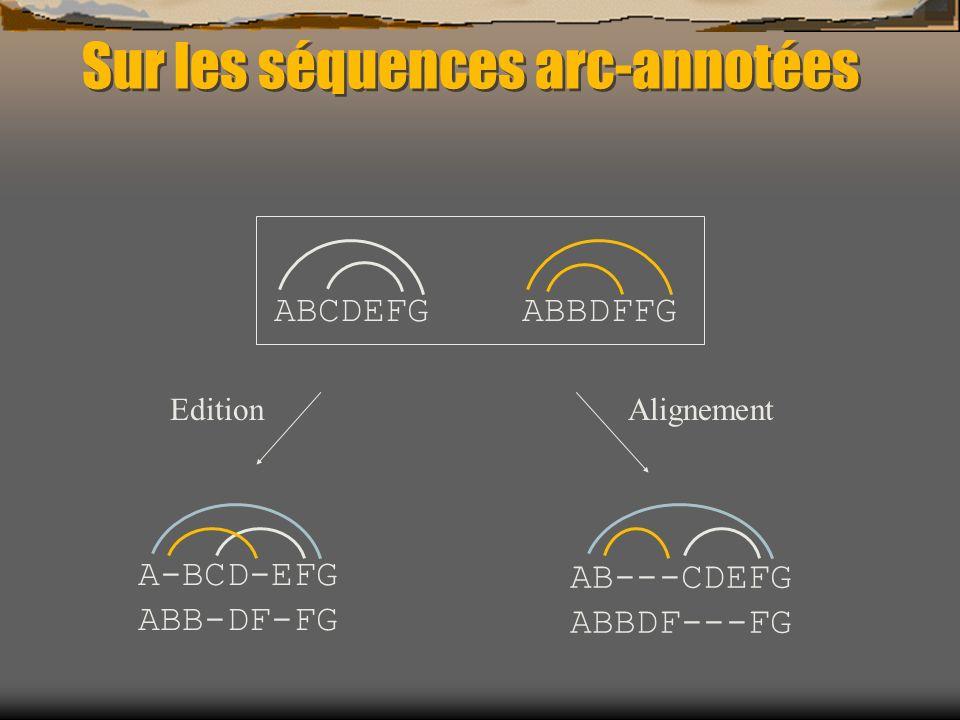 Sur les séquences arc-annotées