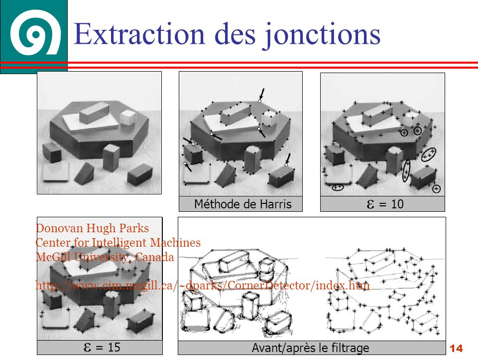 Extraction des jonctions