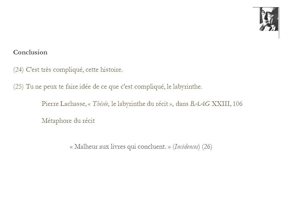« Malheur aux livres qui concluent. » (Incidences) (26)
