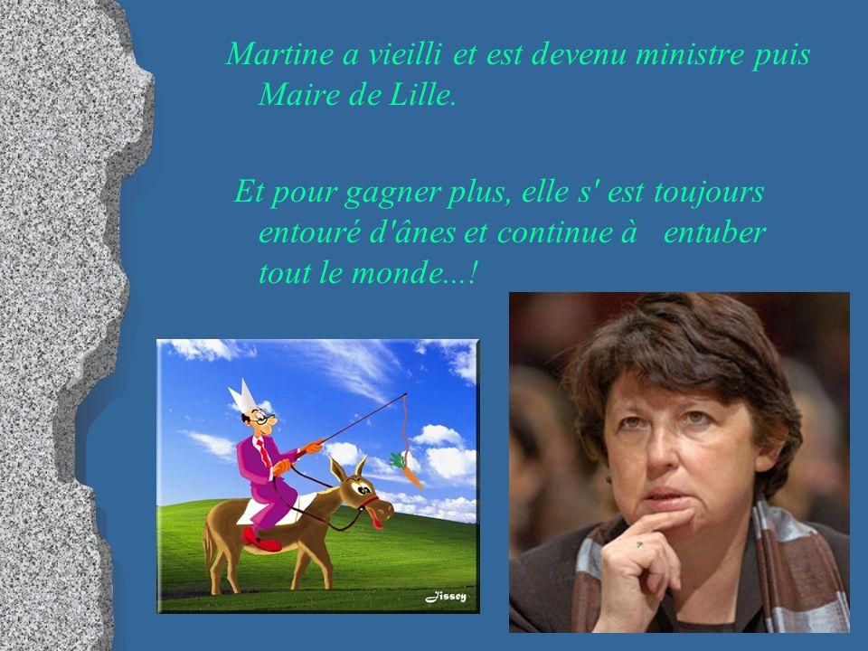 Martine a vieilli et est devenu ministre puis Maire de Lille.