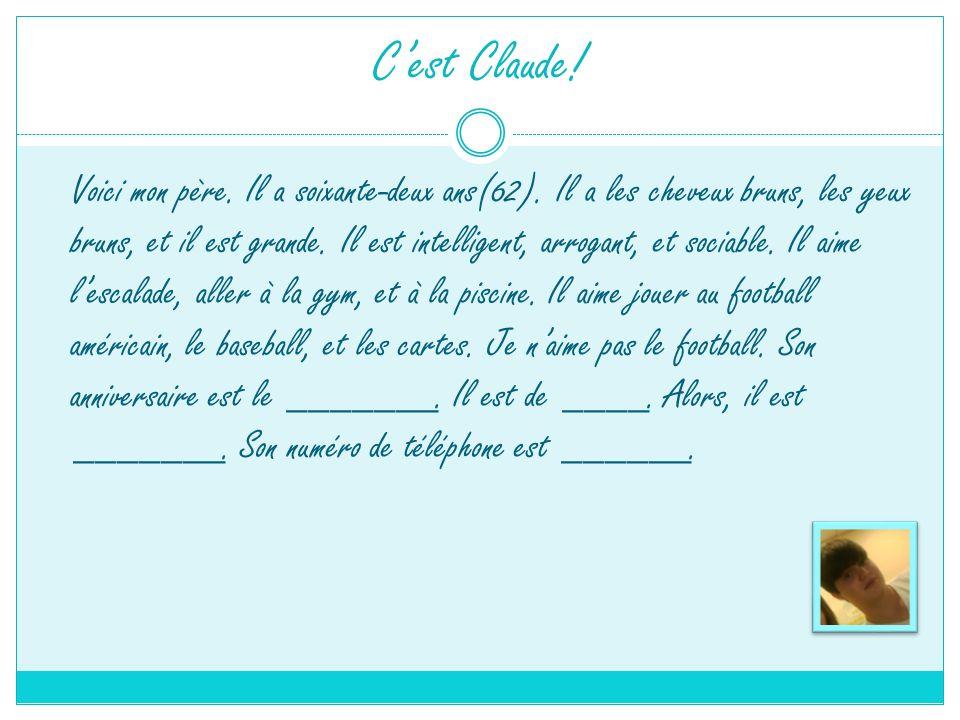 C'est Claude!