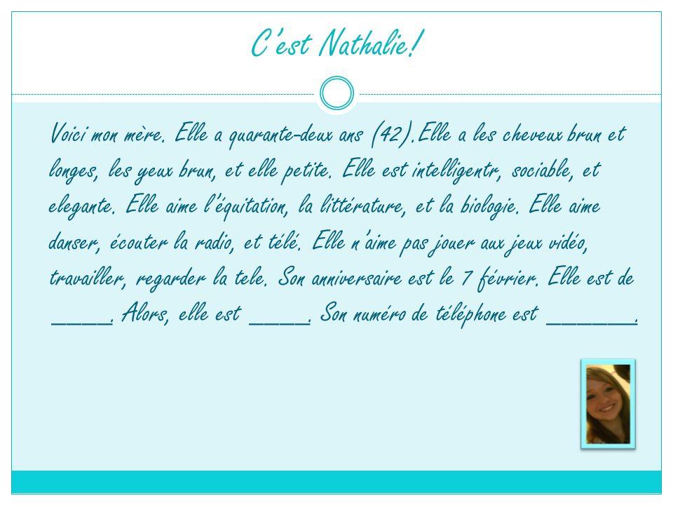 C'est Nathalie!