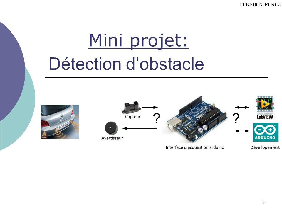 BENABEN, PEREZ Mini projet: Détection d'obstacle