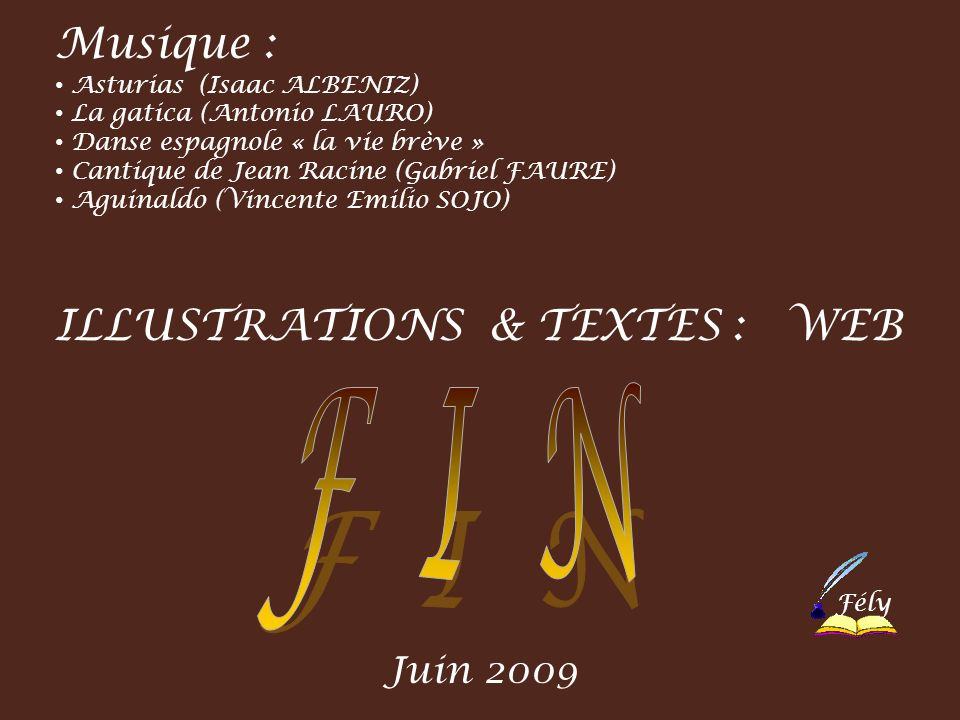 F I N Musique : ILLUSTRATIONS & TEXTES : WEB Juin 2009