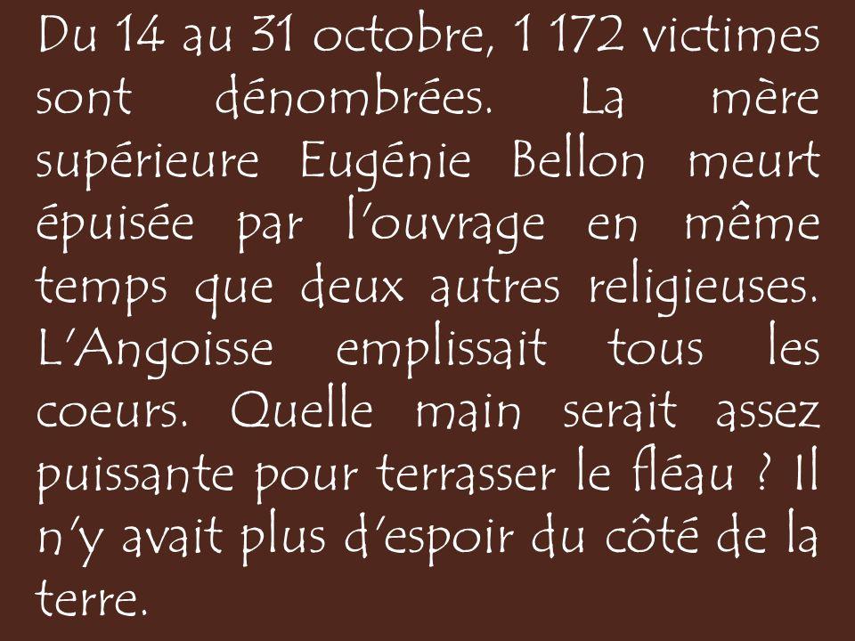 Du 14 au 31 octobre, 1 172 victimes sont dénombrées