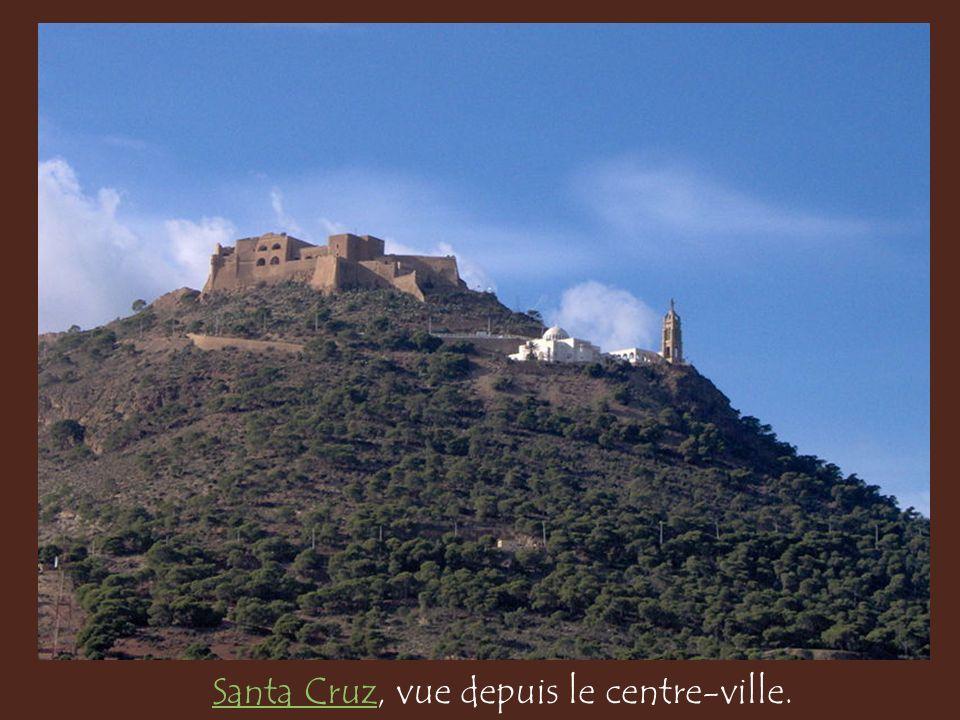 Santa Cruz, vue depuis le centre-ville.