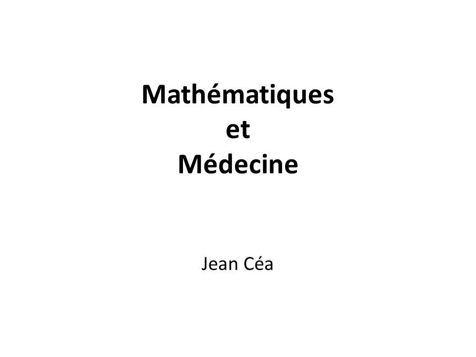 Mathématiques et Médecine Jean Céa