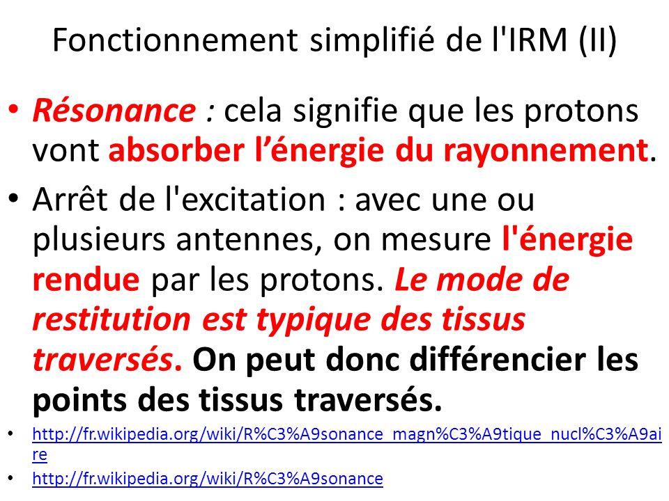 Fonctionnement simplifié de l IRM (II)