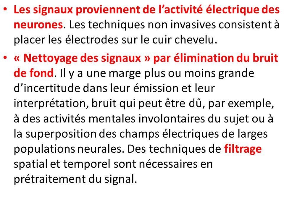 Les signaux proviennent de l'activité électrique des neurones