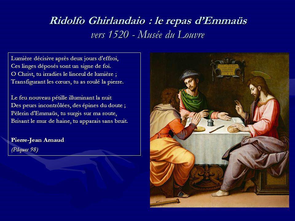 Ridolfo Ghirlandaio : le repas d'Emmaüs vers 1520 - Musée du Louvre