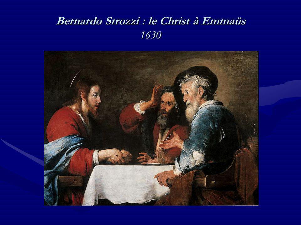 Bernardo Strozzi : le Christ à Emmaüs 1630