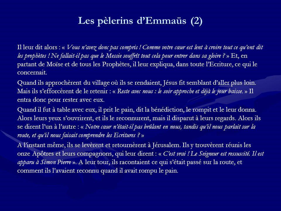 Les pèlerins d'Emmaüs (2)