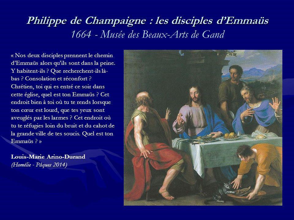 Philippe de Champaigne : les disciples d'Emmaüs 1664 - Musée des Beaux-Arts de Gand