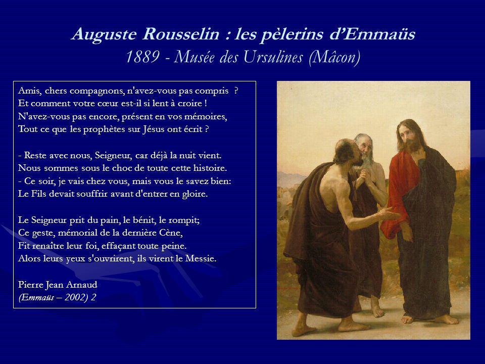 Auguste Rousselin : les pèlerins d'Emmaüs 1889 - Musée des Ursulines (Mâcon)