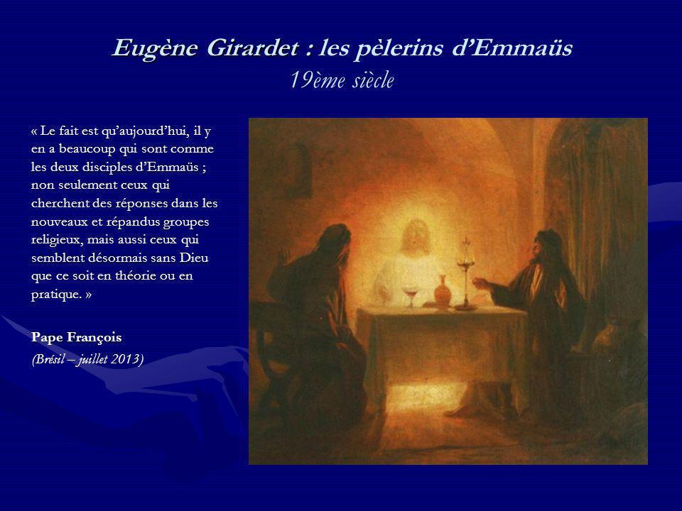Eugène Girardet : les pèlerins d'Emmaüs 19ème siècle