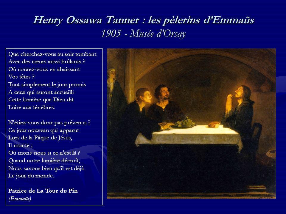 Henry Ossawa Tanner : les pèlerins d'Emmaüs 1905 - Musée d'Orsay