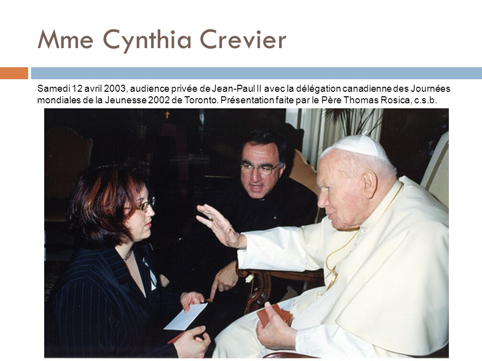Mme Cynthia Crevier