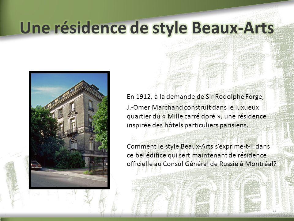 Une résidence de style Beaux-Arts