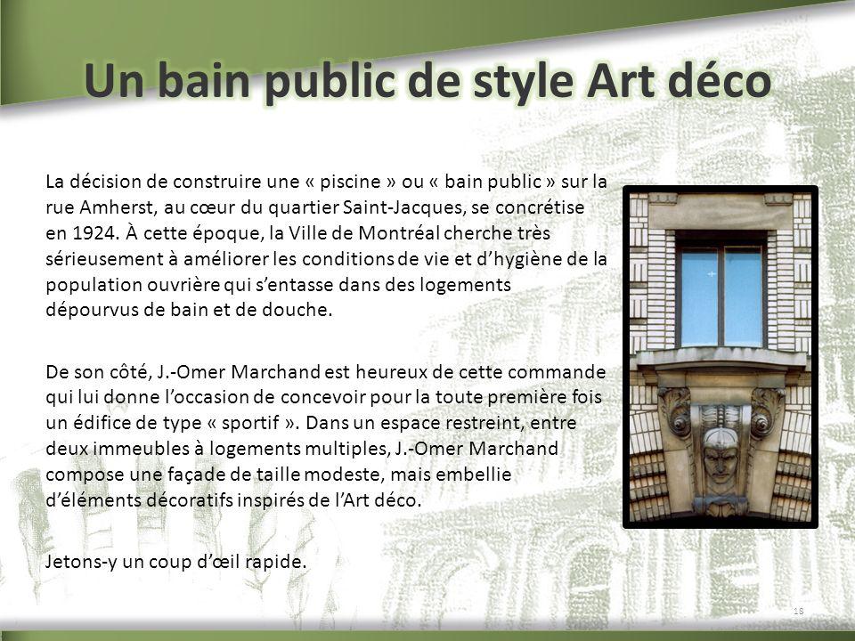 Un bain public de style Art déco