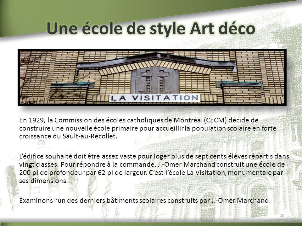 Une école de style Art déco