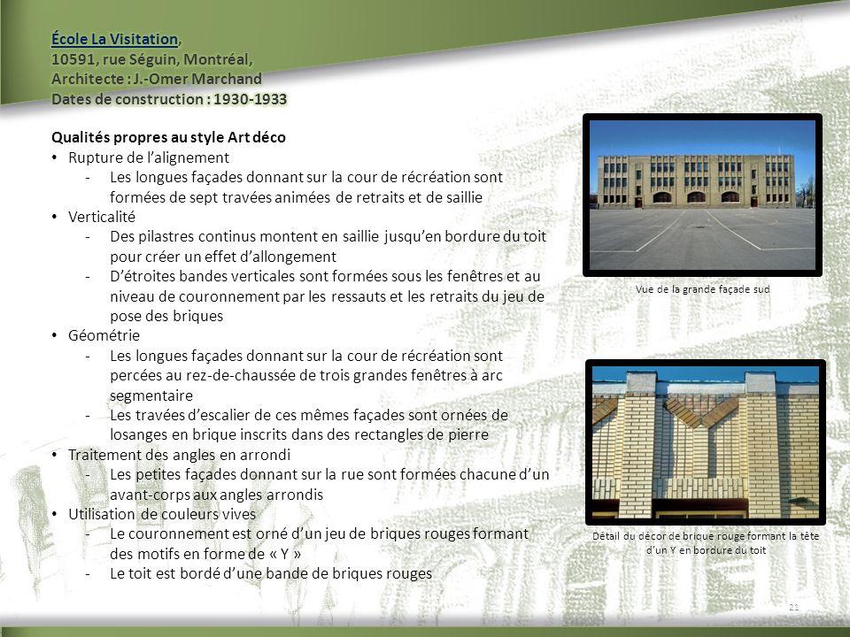 Vue de la grande façade sud