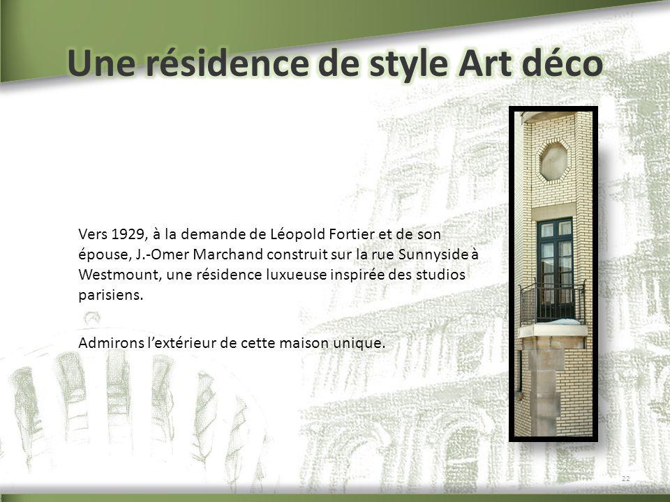 Une résidence de style Art déco