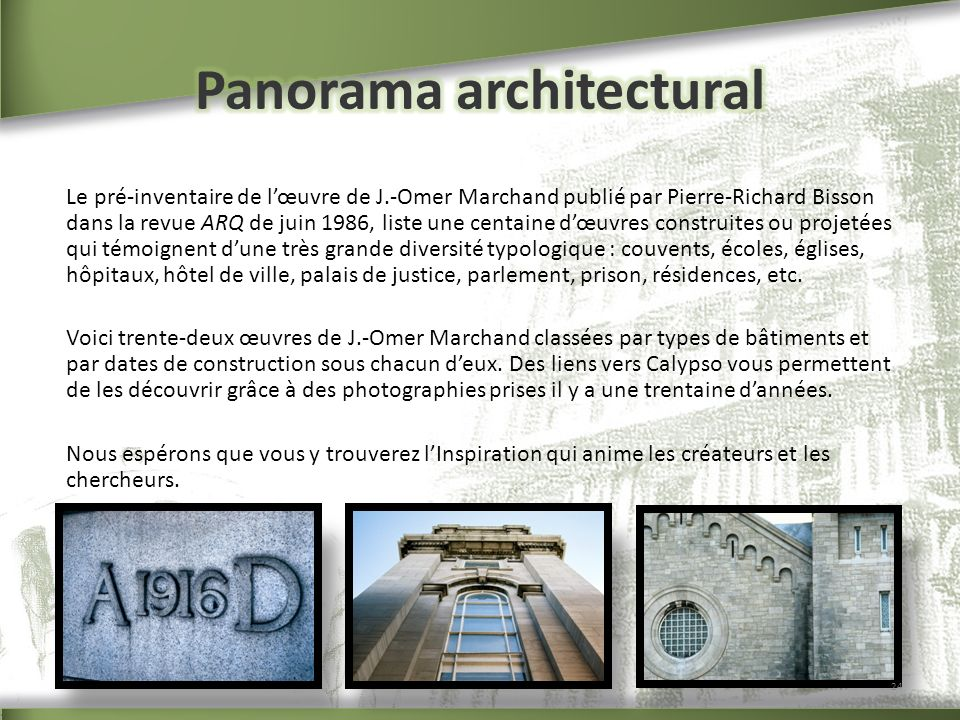 Panorama architectural