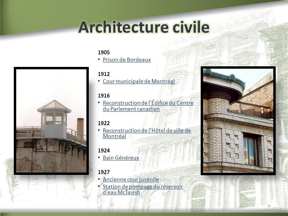 Architecture civile 1905 Prison de Bordeaux 1912