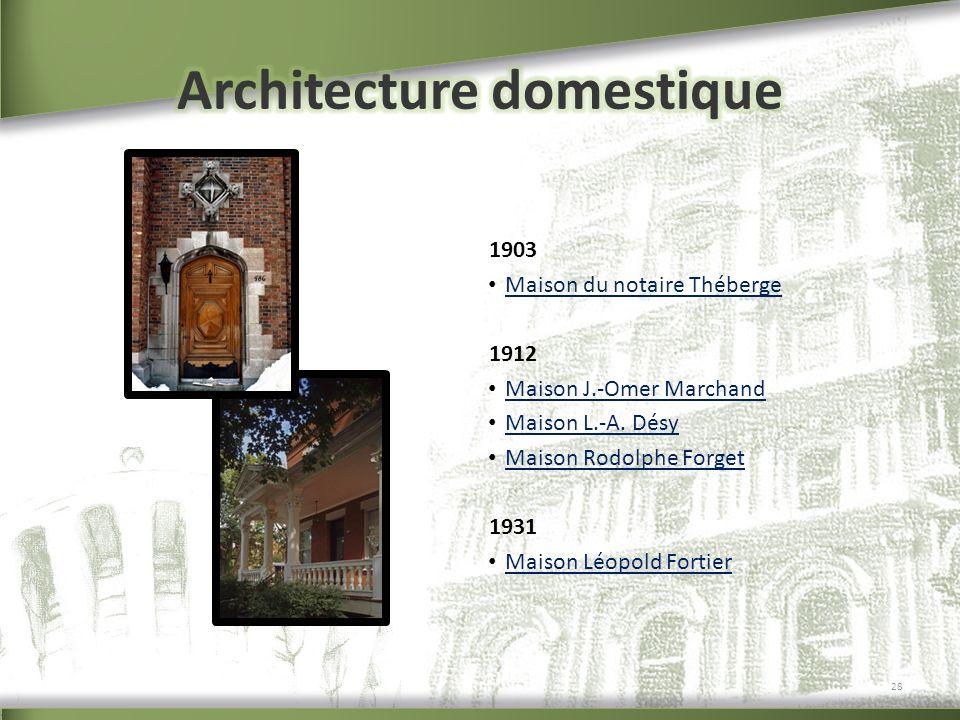 Architecture domestique