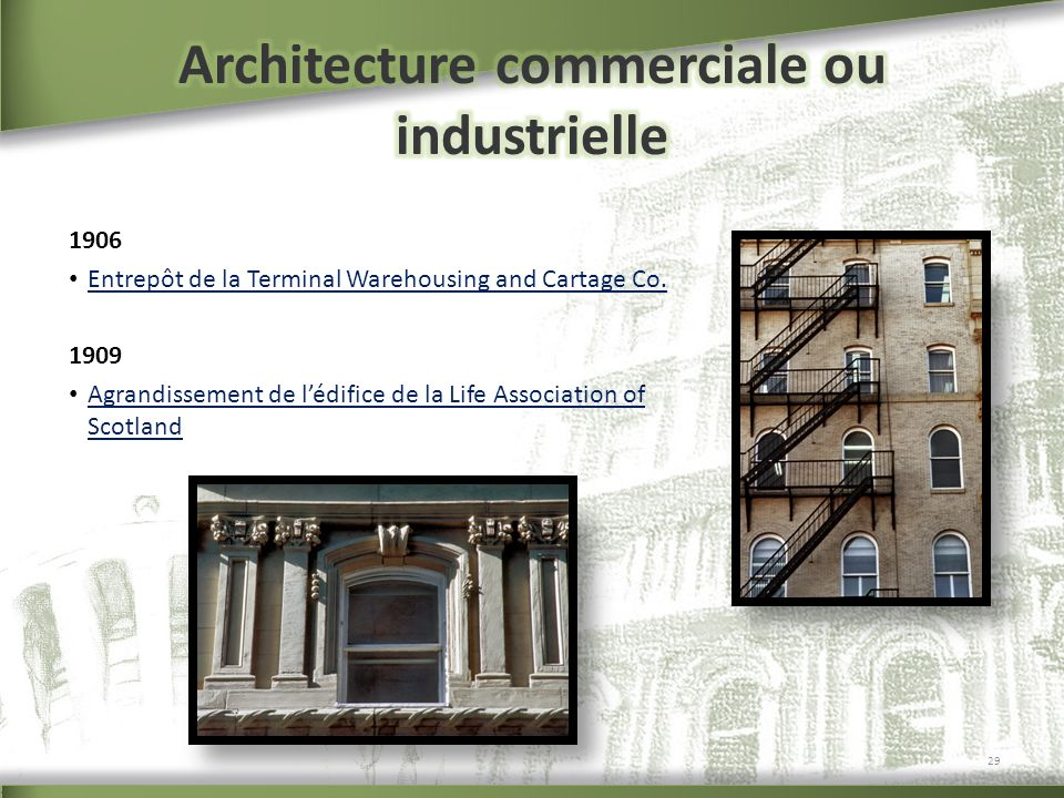 Architecture commerciale ou industrielle
