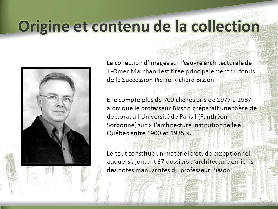 Origine et contenu de la collection